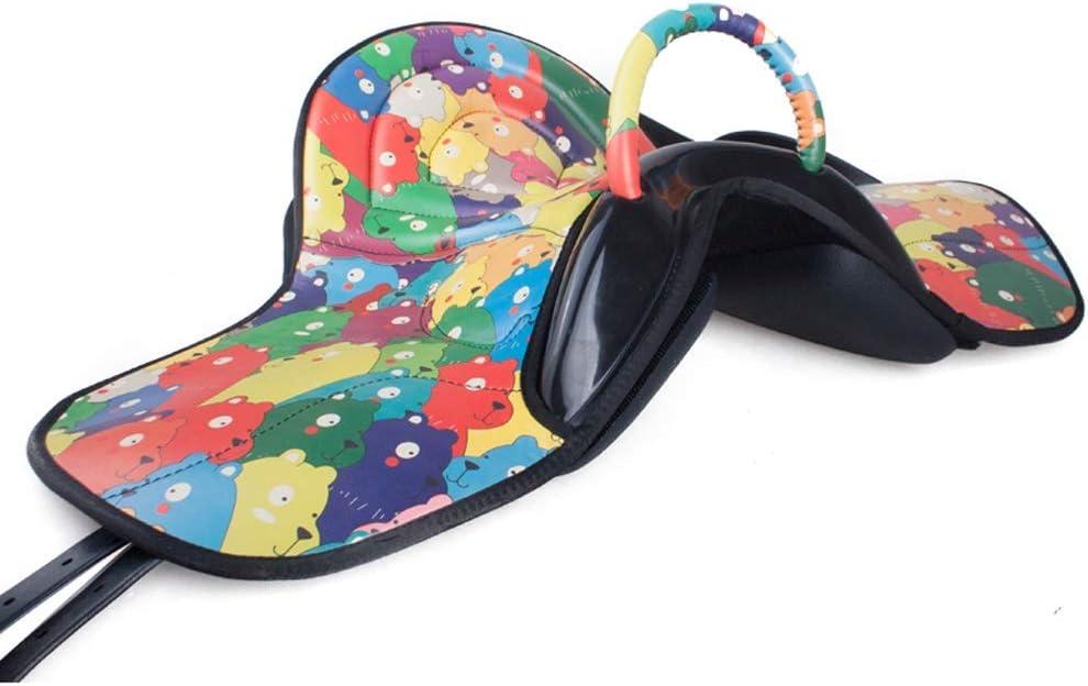 KDKDA Prueba completa de cuero superior Brown Saltos Inglés caballo de silla TACHUELA Conjunto Pony de una silla infantil de una silla arnés ultraligero de una silla Confort absorción de choque veloci