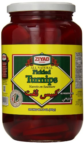 Ziyad All Natural Pickled Red Turnips, 30 Ounce