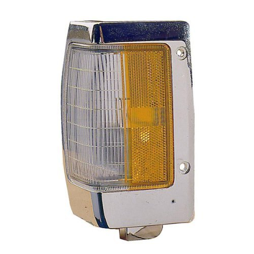 1990-1997 Nissan D21 Hardbody Pickup Truck Turn Signal Marker Lamp (with Chrome Trim) Corner Park Light Left Driver Side (1990 90 1991 91 1992 92 1993 93 1994 94 1995 95 1996 96 1997 97) Driver Side Park Lamp