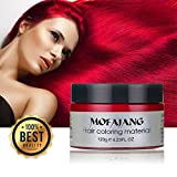 hair dryer red color - Temporary Red Hair Wax Natural Ash Matte Hair Professional Lacquers Gel for Party Cosplay (Red)