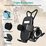 Bovon Bike Phone Mount with 360 Rotation, Universal Adjustable Motorcycle Phone Mount Compatible with iPhone SE/11 Pro Max/11 Pro/11/XS/XS Max/XR/8/7, Samsung S20/S20 Plus/S10 Plus/S10/S10e/S9