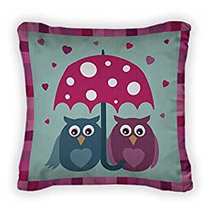 Gear New Love Owls Throw Pillow With Removable Cover, Poplin, 16x16, GN15806