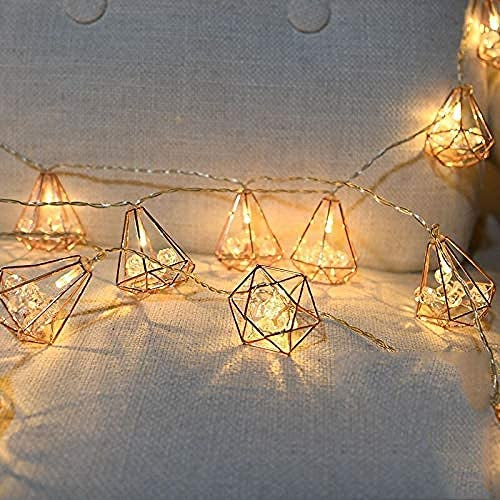 LDTSWES® Weihnachtslichterketten 50Led Fairy Diamond Mit Led Dekor Für Weihnachtsgirlande Hochzeit