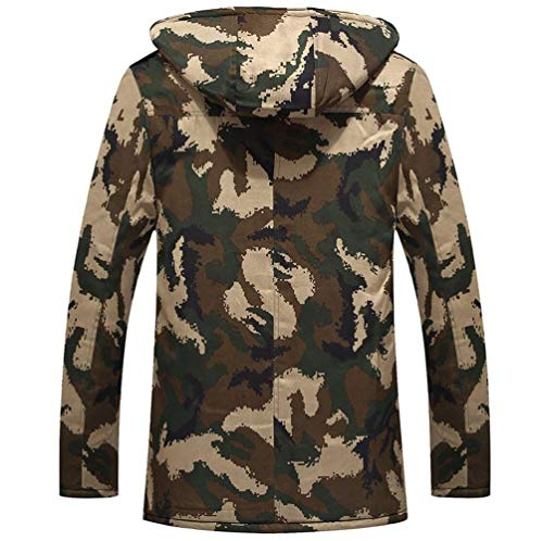 Jacket Hooded Brands Jacket Warming Down Parka Long Outerwear Long Jackets Jackets Jacket Fashion Winter BOLAWOO Winter Sleeve Men's 2 Jacket Camouflage Warm CxqtaZ