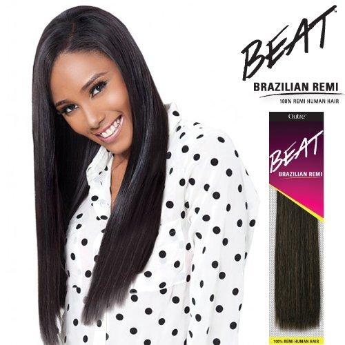 (Outre Beat Human Hair Weave - Beat Brazilian Remi (10S, Color 1))