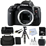 Canon EOS Rebel T6i DSLR Camera Body only (International Version - No Warranty) Bundle includes 32GB SD Memory Card + High Speed Card Reader + Extended Life Replacement Battery +Carrying Case & More!