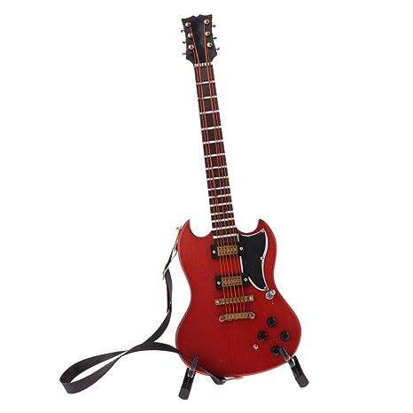 F Fityle Modelo Guitarra Eléctrica en Miniatura para Muñecas Escala 1/6 - #12
