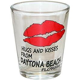 Hugs & kisses – Daytona Beach Florida Souvenir Gift Shot Glass. HUGS & KISSES.
