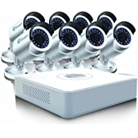 Swann SWDVK-16158W-US 16 Channel Compact D1 DVR and 8 x 650 TVL Camera (White)
