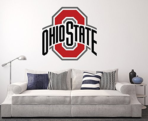 State Logo Wall - Ohio State Buckeyes Wall Decal Home Decor Art College Football NCAA Team Sticker