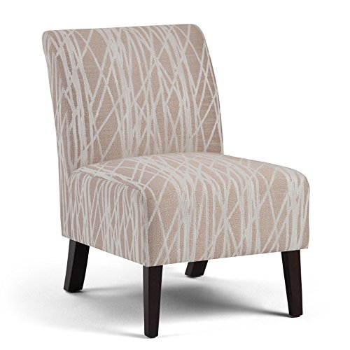 Simpli Home Woodford Accent Chair, Beige/White