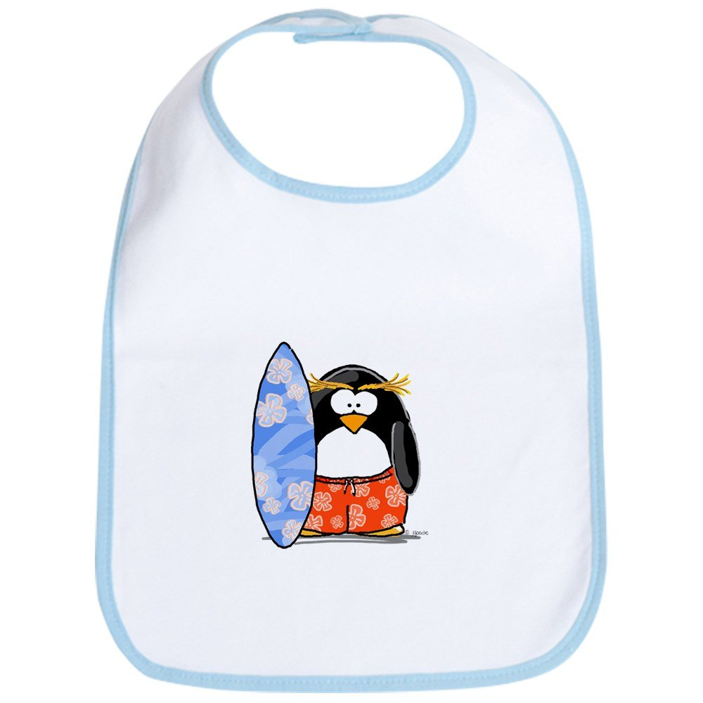 Amazon.com: CafePress – Surf Macaroni Penguin – Babero lindo ...