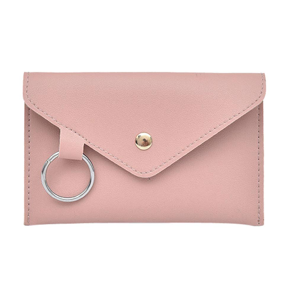 Peigen Women Leather Messenger Shoulder Bag,Fashion Women Pure Color Ring Leather Messenger Shoulder Bag Chest Bag
