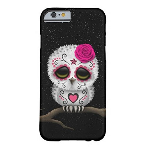 Price comparison product image Cute Pink Day Of The Dead Sugar Skull Owl Stars IPhone 6/6s Plus Case