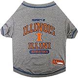 Pets First NCAA Illinois Fighting Illini Dog T-Shirt, Medium