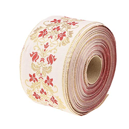 School Bees Border Trim - 25 Meters Embroidered Border Ribbon Trim for Sewing Crafts Appliques | Color - White