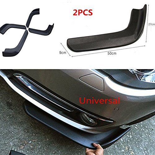 Universal Fit Car Front Bumper Spoiler Lip-Car Bumper Spoiler Twist Anti-Scratch Splitter Diffuser SUV ABS Front Shovel 2PCS(502),Waterproof (1)