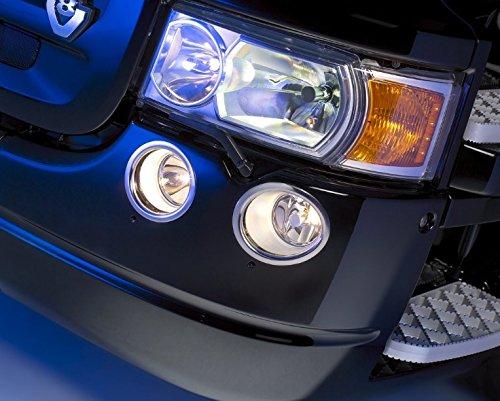 Juego de anillos de decoración para luces antinieblas delanteras de acero inoxidable, 4 unidades, para Scania, camiones R