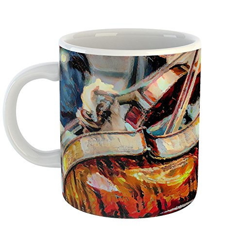 Westlake Art - Viola Musical - 11oz Coffee Cup Mug - Abstract Artwork Home Office Birthday Christmas Gift - 11 Ounce (6074-75297)
