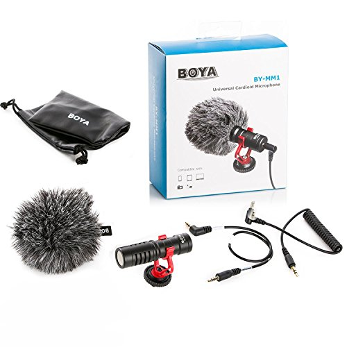 Boya Video Microphone Universal Compact on-Camera Mini Recording Mic Directional Condenser for iPhone Android Smartphone…