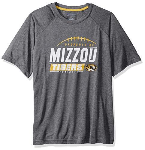 NCAA Missouri Tigers Mens NCAA Men's Short Sleeve Football Season Jersey Teechampion NCAA Men's Short Sleeve Football Season Jersey Tee, True Black, XX-Large ()