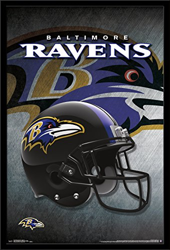 Baltimore Paper Ravens (Trends International Wall Poster Baltimore Ravens Helmet, 22.375 x 34)