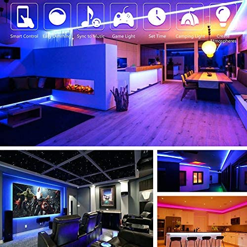 tools, home improvement, lighting, ceiling fans, novelty lighting,  led strip lights 7 on sale Nexillumi LED Strip Lights 16.4 Foot/5M promotion