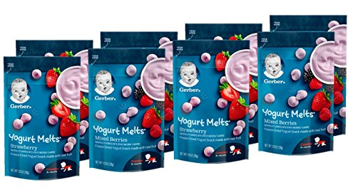 Gerber Graduates Yogurt Melts, Strawberry and Mixed Berry, 8 Count