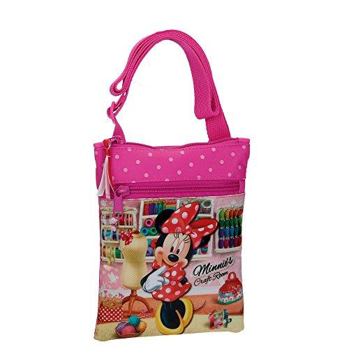 Disney Shultertasche Minnie Umhängetasche, 0.25 Liter, Rosa