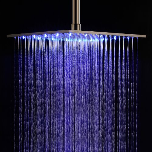 outlet Lightinthebox 16 inch Stainless Steel Bathroom Shower Head with Color Changing LED Light Rainfall Shower