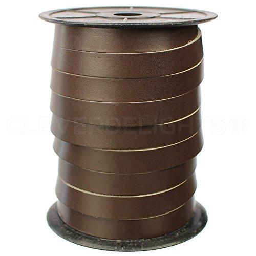 CleverDelights Premium Cowhide Leather Strap -- Dark Brown -- 1/2