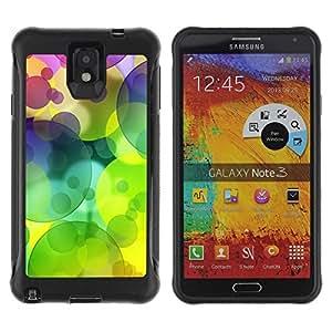 Suave TPU GEL Carcasa Funda Silicona Blando Estuche Caso de protección (para) Samsung Note 3 / CECELL Phone case / / Colors Circle Pattern Lime Green /