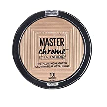 Maybelline New York Face Studio Master Chrome Metallic Highlighter, Molten Gold, 0.24 fl. Oz.