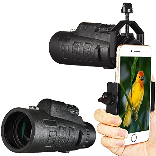 Hd 50 Adapter (CVLIFE 12x50 Monocular Telescope with Cellphone Adapter Mount Compass and Pouch)