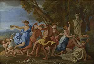 The polyster Canvas of oil painting 'Nicolas Poussin A Bacchanalian Revel before a Term ' ,size: 20 x 29 inch / 51 x 74 cm ,this Best Price Art Decorative Prints on Canvas is fit for Foyer artwork and Home decor and Gifts