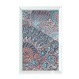 beatChong Abstract Seamless Texture Fish Animal Desktop Crystal Art Painting Glass Artwork Decoration 7x5''
