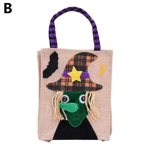 (Halloween Handbag - 1pc Halloween Pumpkin Witches Linen Candy Bag Popular Trick Or Treat Gift Pouch Festival Handbag - Stud Bags Bag Candy Popcorn Bag Cross Bag Bag Dog Snack)