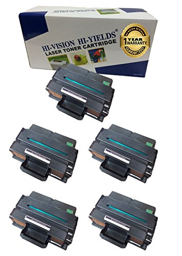 HI-Vision Compatible Dell B2375, 593-BBBJ, 8PTH4 (5 Pack) Black 10,000 Page Yield Toner Cartridge Replacement for B2375dnf, B2375dfw Multifunction Printers ()