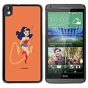 Caucho caso de Shell duro de la cubierta de accesorios de protección BY RAYDREAMMM - HTC DESIRE 816 - Lindo Wonder W0Man Salto