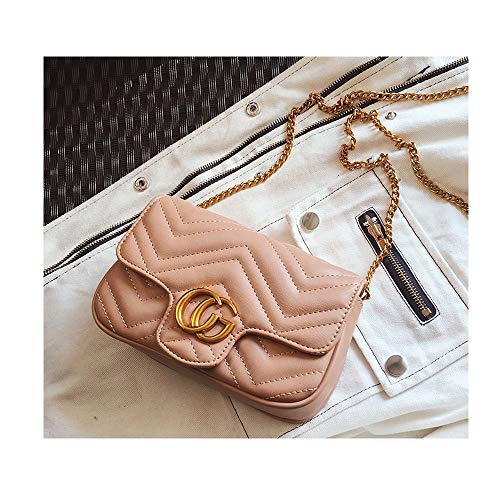 CG Marment matelassé Leather Super Mini Bag Purses and Handbags Flap Small Crossbody Bag Shoulder Bag for Girls -Pink