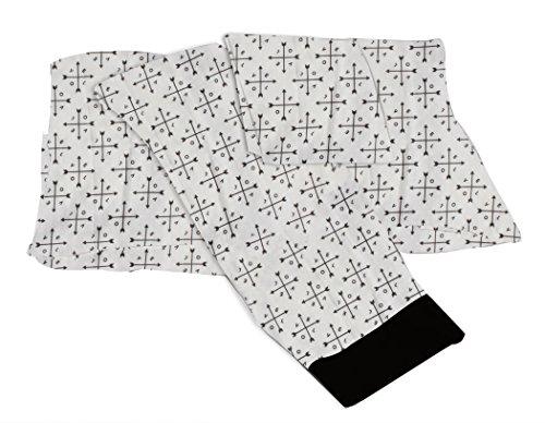 Bacati Love Muslin 3 Piece Toddler Bedding Sheet Set, Black by Bacati