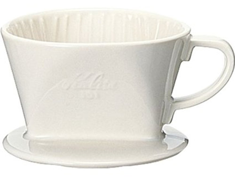 Kalita: Ceramic Coffee Dripper 101-White Lotto # 01001 by Kalita #01001