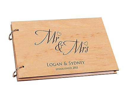 best deals on get online wide varieties Amazon.com: Mr and Mrs Wedding Guest Book Alternative ...