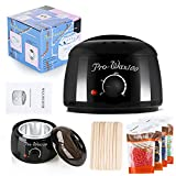 Hotrose Hair Removal Wax Warmer Bikini Waxing Rapid Electric Wax Heater with 4 Different Flavors Hard Wax Beans and 10 Wax Applicator Sticks