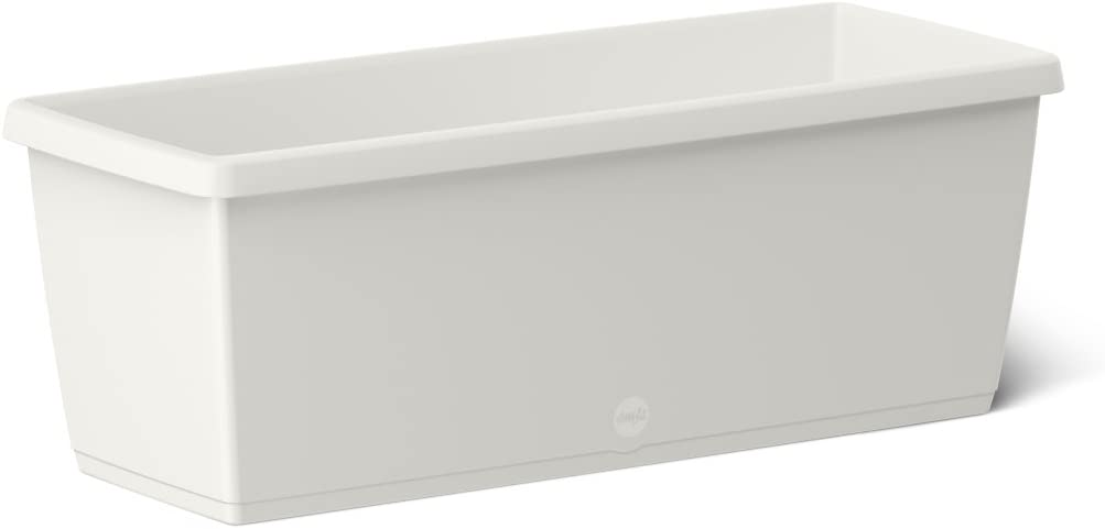 Emsa 518679 My City Garden Flower Box, White, 75 x 20 x 18 cm