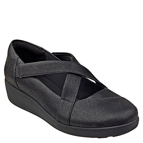 Easy Spirit Womens Karlette Zeppa Slip On Tessuto Nero
