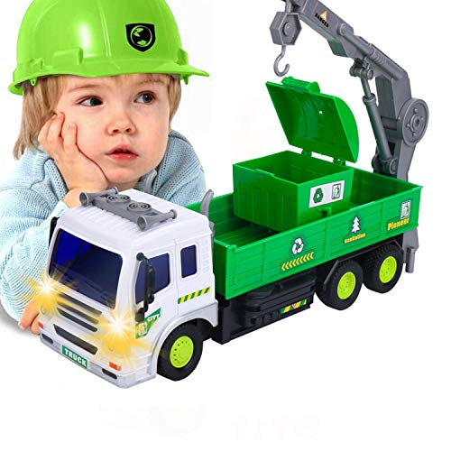 EsOfficce Remote Control Truck, 4 WD Recycle Garbage Crane Truck,1:16 RC Vehicle with Light