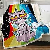 Sleepwish Cat Soft Blanket Plush Throw Blanket
