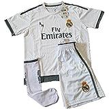 14e5757cecd6c Equipación Infantil Completa Réplica Oficial Real Madrid Temporada 15 16 ( Talla 14)