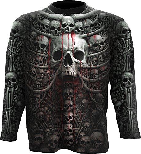 Spiral Mens - Death Ribs - Allover Longsleeve T-Shirt Black